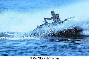 Jetski fun - jet-ski fun on a day in summer