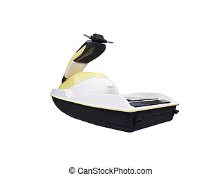 Jetski isolated back view
