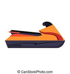 Jetski water sport motor bike isolated vector illustration ...