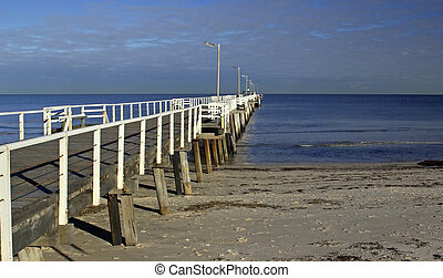 Jetty - A jetty leading out from the left.