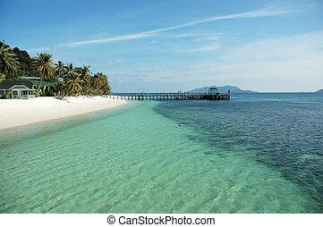 jetty and beach