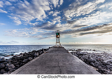 Jetty and lighthouse