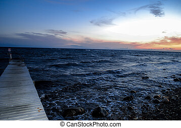 Jetty by the ocean