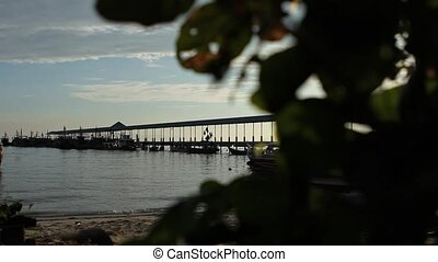 Jetty in paradise. - Wooden jetty in tropical waters