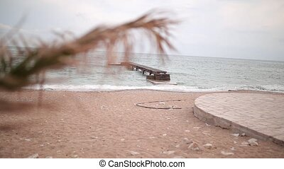 Jetty on the beach in Budva