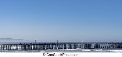 jetty on the california coast