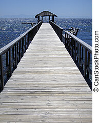 Jetty or pier over water