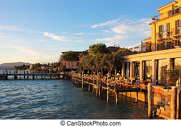 Jetty Port and Quay in Sirmione