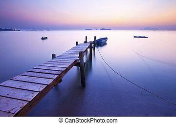 Jetty sunrise along the coast