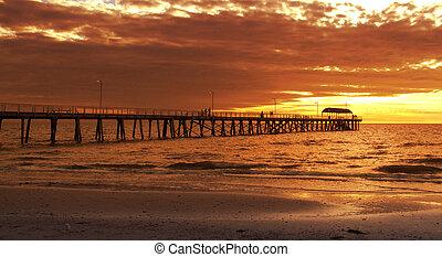 Jetty - Sunset at Beach