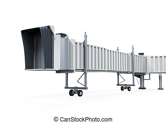 Jetway Isolated - Jetway isolated on white background. 3D...