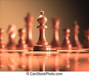jeu échecs, planche, évêque