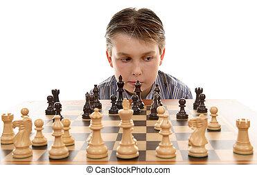 jeu, évaluation, échecs