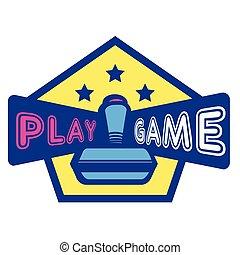 jeu, armature étoile, trois, jeu, vecteur, fond, manche balai, hexagone, image