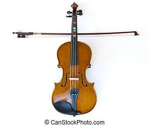 jeu, bois, croix, violon, crosse, apprentissage, violon, musique, enfants, confection