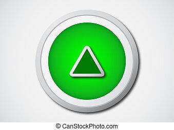 jeu, bouton, icône