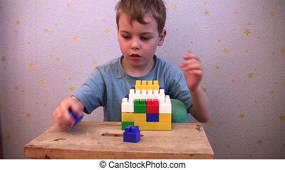 jeu, brique jouet, enfant