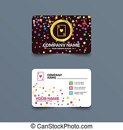 jeu carte, icon., signe casino, symbole.