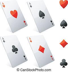 jeu, cartes.