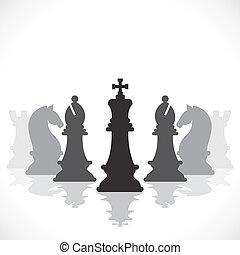 jeu, concept, échecs