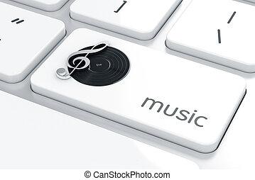 jeu, concept, musique, ligne