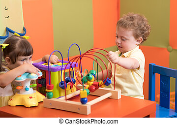 jeu, crèche, enfants