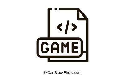 jeu, développement, codage, animation, icône