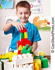 jeu, ensemble construction, enfant