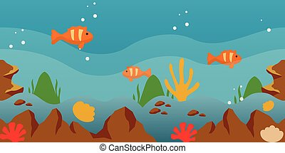 jeu, fond, mer, vecteur