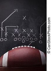 jeu, football, plan