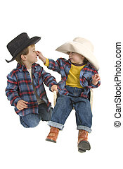 jeu, frères, cow-boy