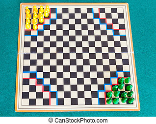 jeu, gameboard, halma, planche, stratégie