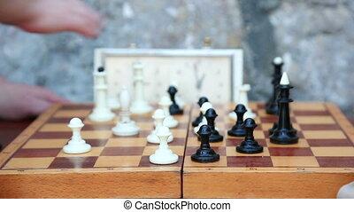 jeu, jouant échecs