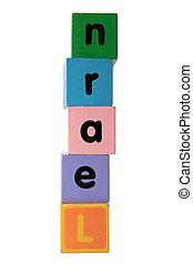 jeu, jouet, lettres, coupure, apprendre, sentier, blanc, bloc