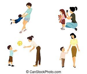 jeu mère, enfant