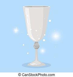 jeu, objet, gobelet vin, dessin animé