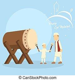 jeu, sien, père, fils, bedug, enseigner