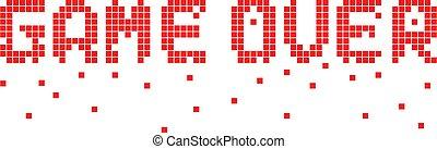 jeu, sur, briser, pixel, texte