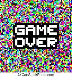jeu, sur, message, pixel