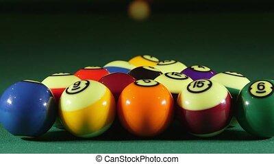 jeu table, balles, billard, piscine