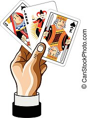 jeu, vecteur, carte, illustration