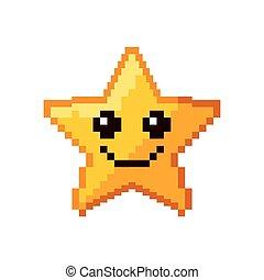 jeu vidéo, étoile, pixelated