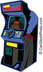 jeu, vidéo, retro, arcade