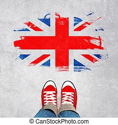 jeugd, stedelijke , concept, brits