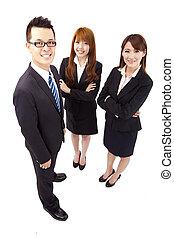 jeune, affaires asiatiques, équipe