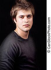 jeune, beau, masculin, type