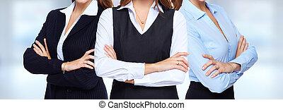 jeune, business, women.