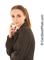 jeune, caucasien, femme affaires