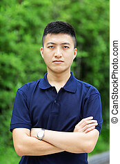 jeune, chinois, homme