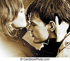 jeune couple, amoureux